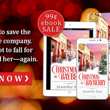 $50 Giveaway ~ #Sale 99¢ Christmas In Bayberry by Jennifer Faye… This week ONLY! #books #SmallTown #Hallmark #romance #readers