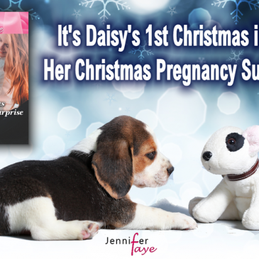 "The Buzz… ""I loved the dog in the story named Daisy."" HER CHRISTMAS PREGNANCY SURPRISE by Jennifer Faye… #books #BakeryRomance #RescueDog #HEA #amreading"