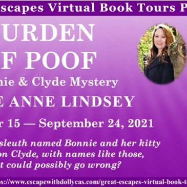 #Giveaway ~ Burden of Poof (A Bonnie and Clyde Mystery) by Julie Anne Lindsey… #readers #CozyMystery #books