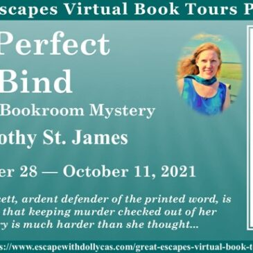 #Giveaway ~ A Perfect Bind (A Beloved Bookroom Mystery) by Dorothy St. James… #CozyMystery #readers #books #amreading